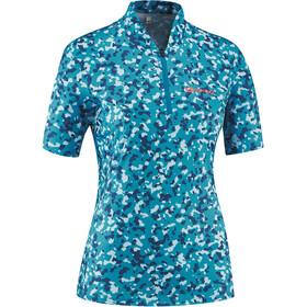 Gonso Vedla Half-Zip SS Bike Jersey Women, blue allover